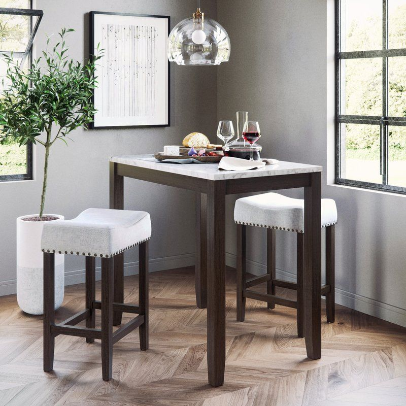 Rea 3 Piece Pub Table Set Pub Table Sets Counter Height Dining
