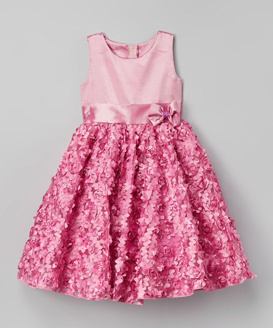 6ba7ef014 Kid Fashion Pink Rosette Dress - Infant, Toddler & Girls by Kid Fashion  #zulily #zulilyfinds