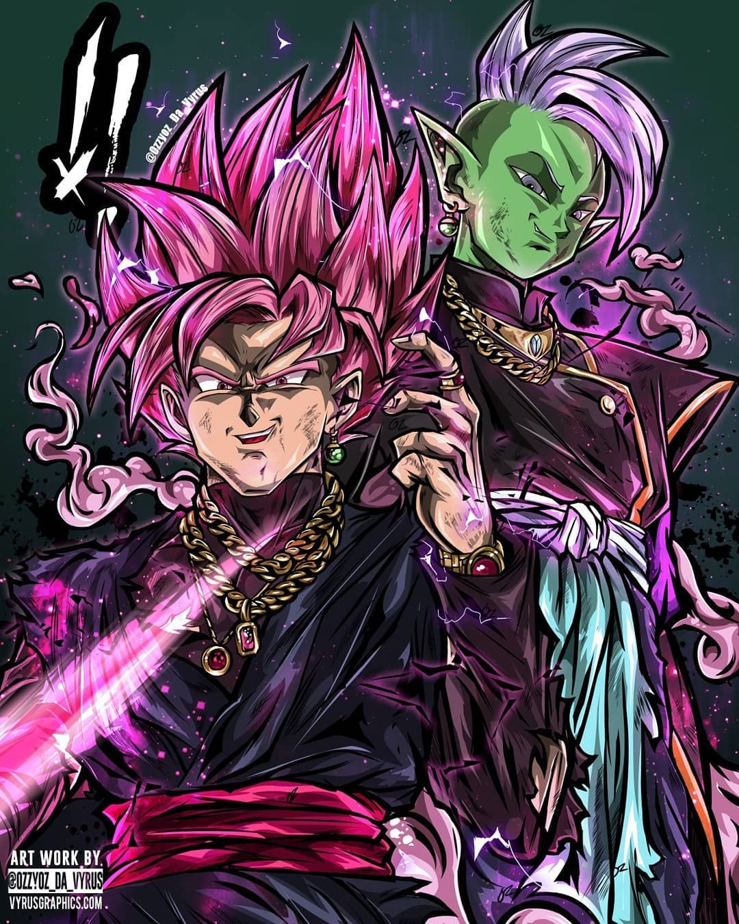 Og Blvck Tag A Goku Black Fan All Over Shirt Version Is Available Only In Black Www Vy Dibujos De Goku Black Personajes De Goku Personajes De Dragon Ball