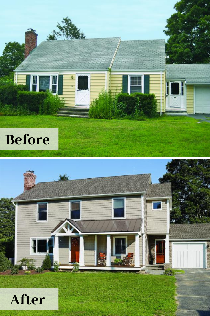 Before And After Cape Cod Cape Cod House Exterior Exterior