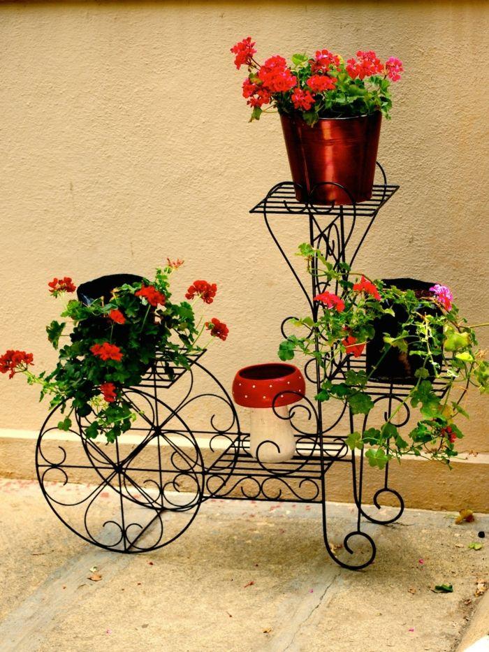 jardineras macetero de alambres de metal en forma de