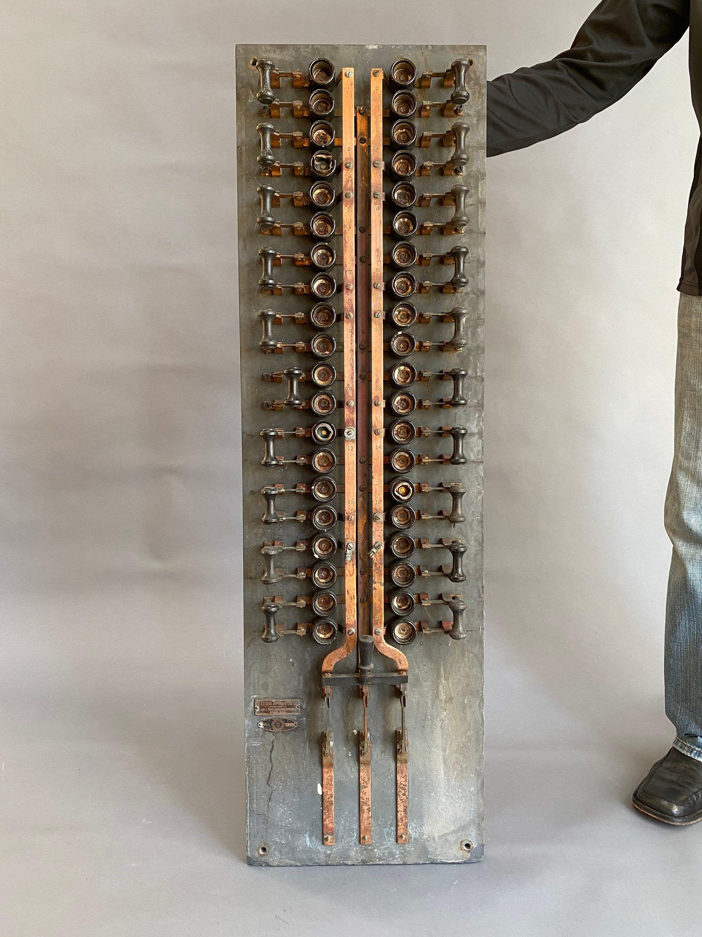 RESERVED Tom Vintage Industrial Slate Copper Fuse Panel | Etsy in 2020 |  Vintage industrial, Fuse panel, CopperPinterest