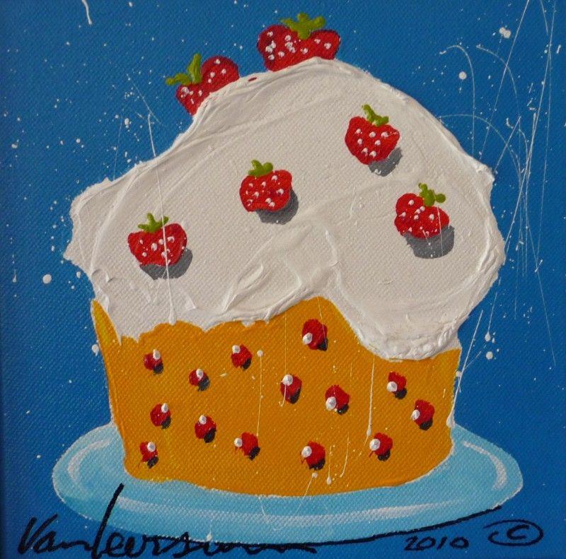 STRAWBERRY CAKE | KEUKEN SCHILDERIJTJES /TEKST SCHILDERIJTJES ...