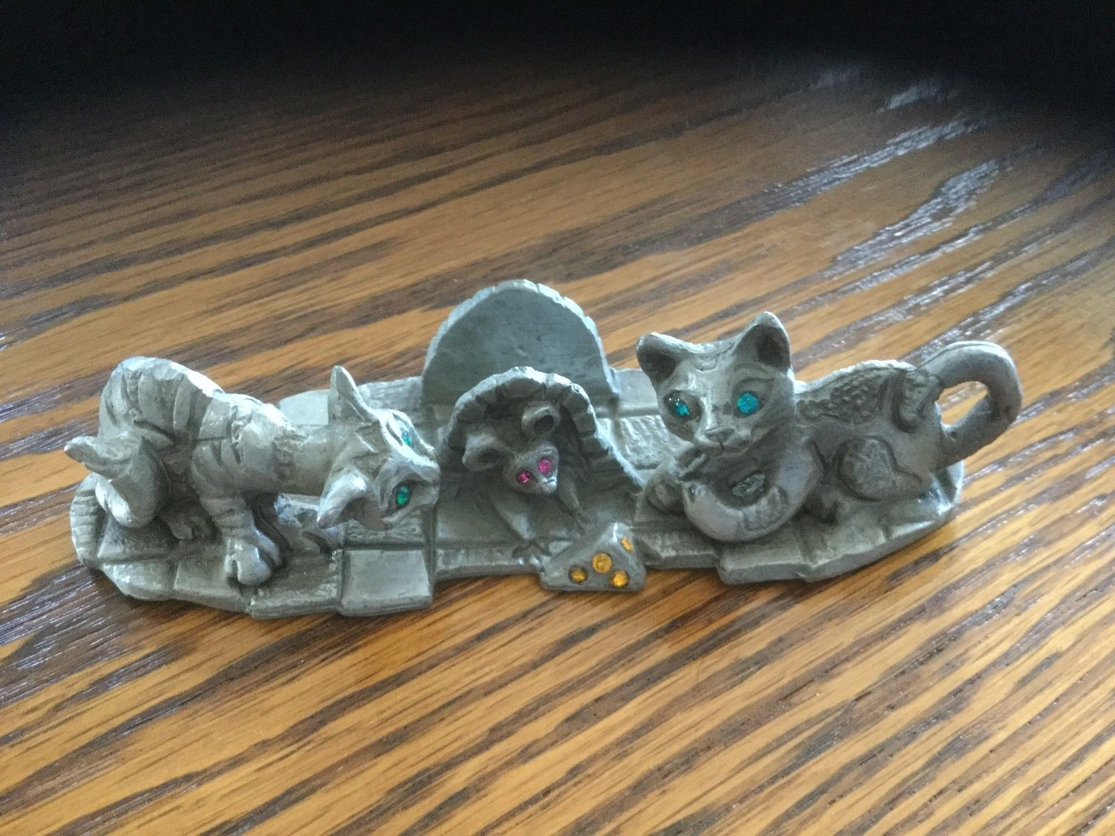 Metal Pewter Finish Cat Business Card Holder | eBay | ОЛОВЯННЫЙ ...
