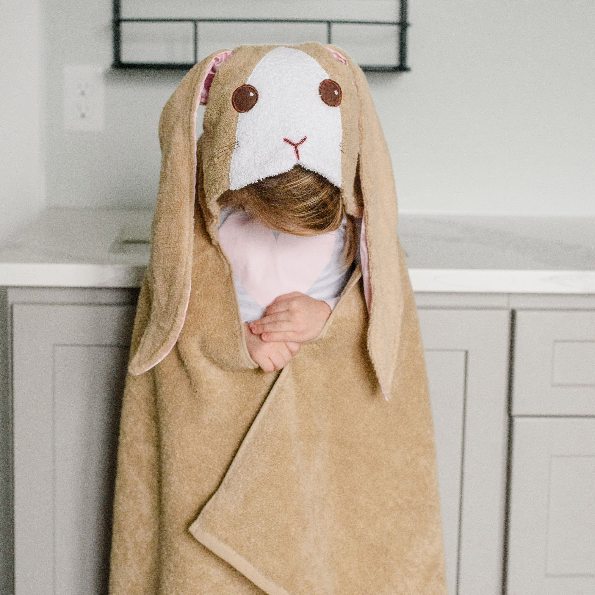 Bunny Rabbit Hooded Bath Towel With Images Hooded Bath Towels