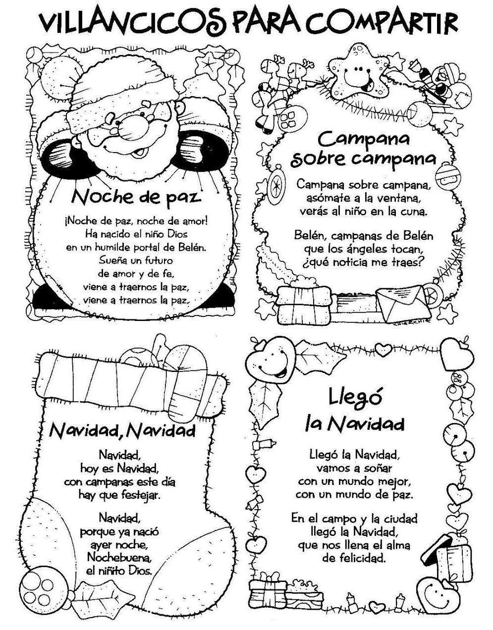 Menta Más Chocolate Recursos Para Educación Infantil Villancicos Para Navidad Poesias Navidad Villancico Villancicos Navideños