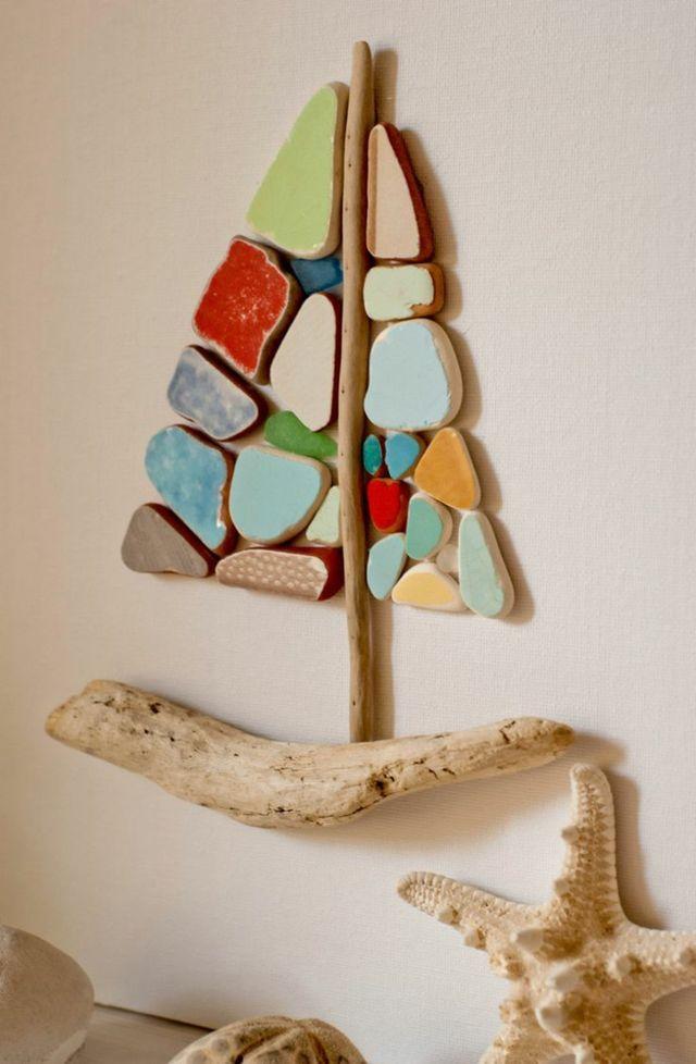 bilder mit steinen basteln eine h bsche wanddeko aus naturmaterialien wohnideen magazin f r. Black Bedroom Furniture Sets. Home Design Ideas