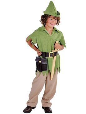 Kids Deluxe Peter Pan Costume Boys Girls Neverland Robin Hood Fancy Book Week