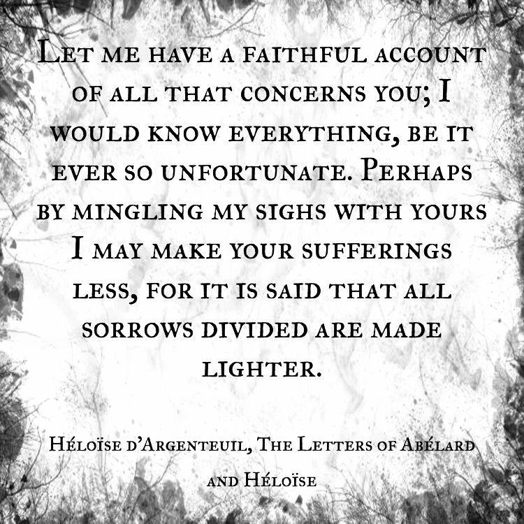 Heloise D Argenteuil The Letters Of Abelard And Heloise Billet