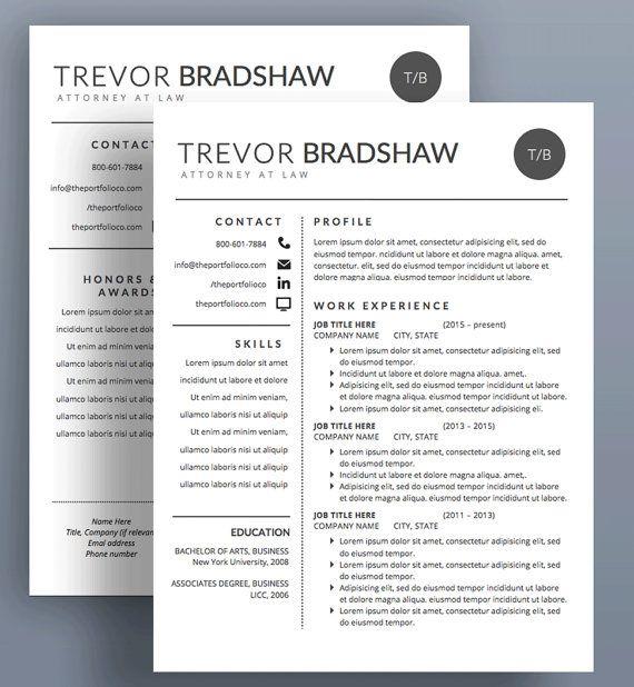 Modern Resume Template  Cv  Cover Letter  Creative Resume