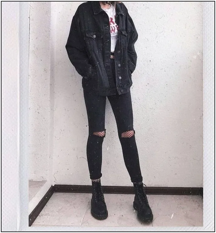 115 ways to look stylish wearing grunge outfits page 28 | homedable.com #grungeoutfits 115 ways to look stylish wearing grunge outfits page 28 | homed...