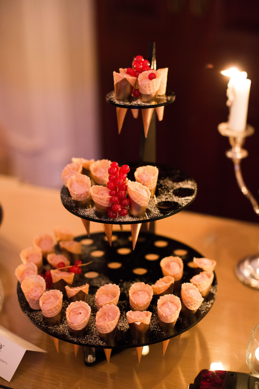 Redberry ice cream in #wafflecones for #dessert. Photographer: Paula O'Hara #Oliviabuckleyevents #OBEweddings #weddings #weddingplanner #eventdesigner