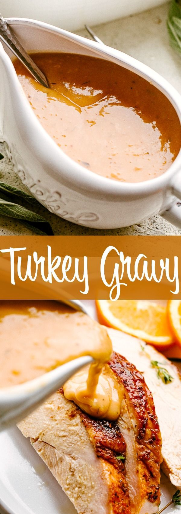 Easy Turkey Gravy Recipe with Pan Drippings | Diethood #turkeygravyfromdrippingseasy