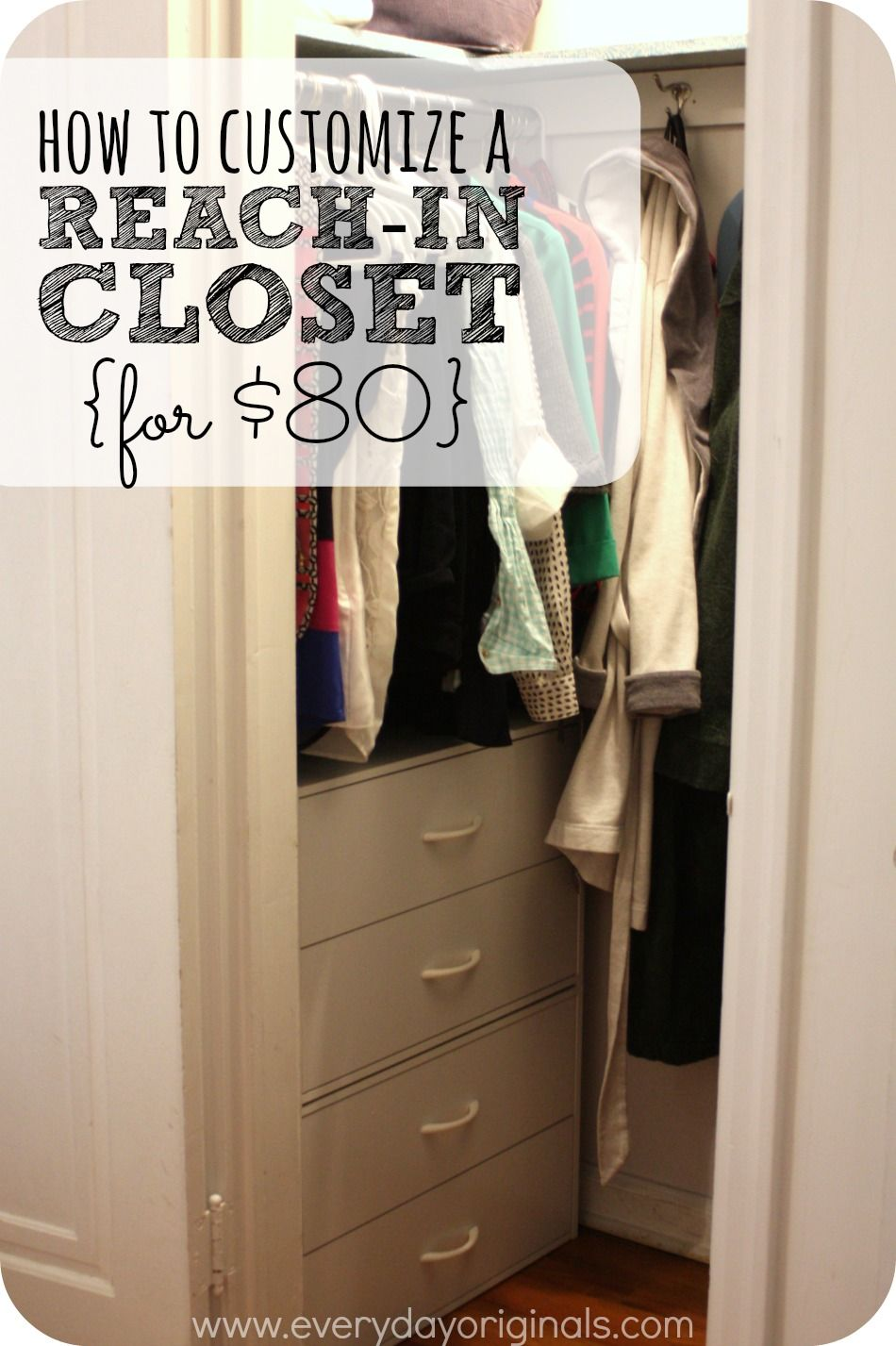 How To Customize A Reach In Closet For 80 Small Deep Closet