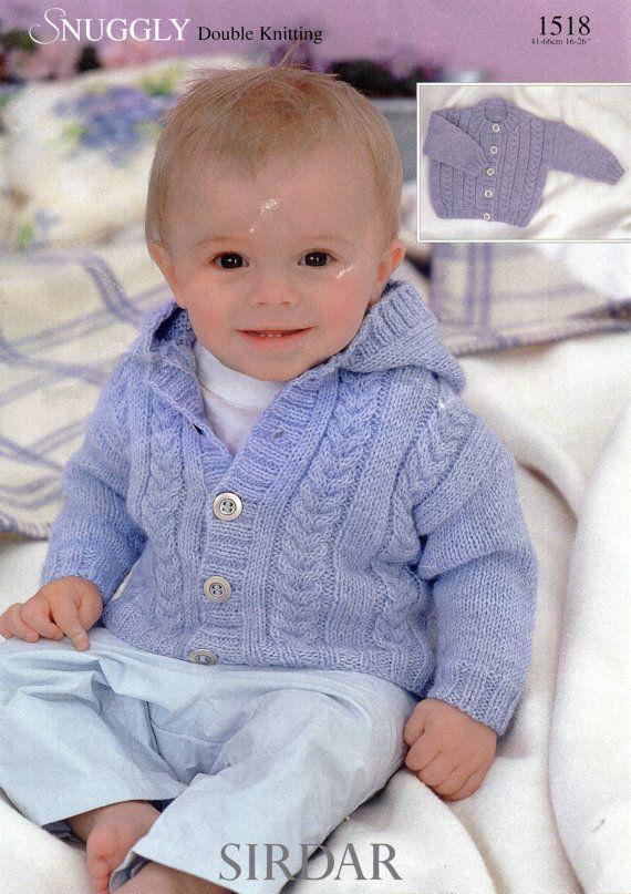 Baby Knitting Pattern Childs Knitting Pattern Cardigan Hood Or Round
