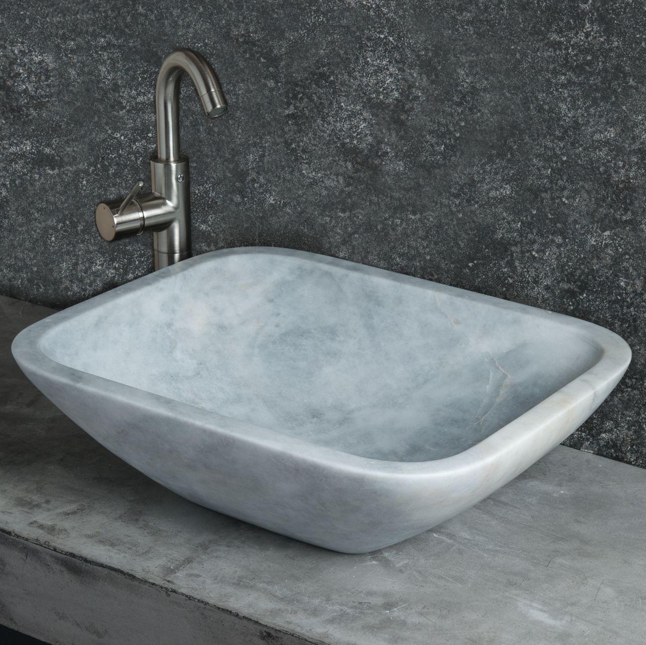 Piani Lavabo Bagno In Pietra.Lavabo Rettangolare Da Appoggio In Marmo Grigio Crib Bagno