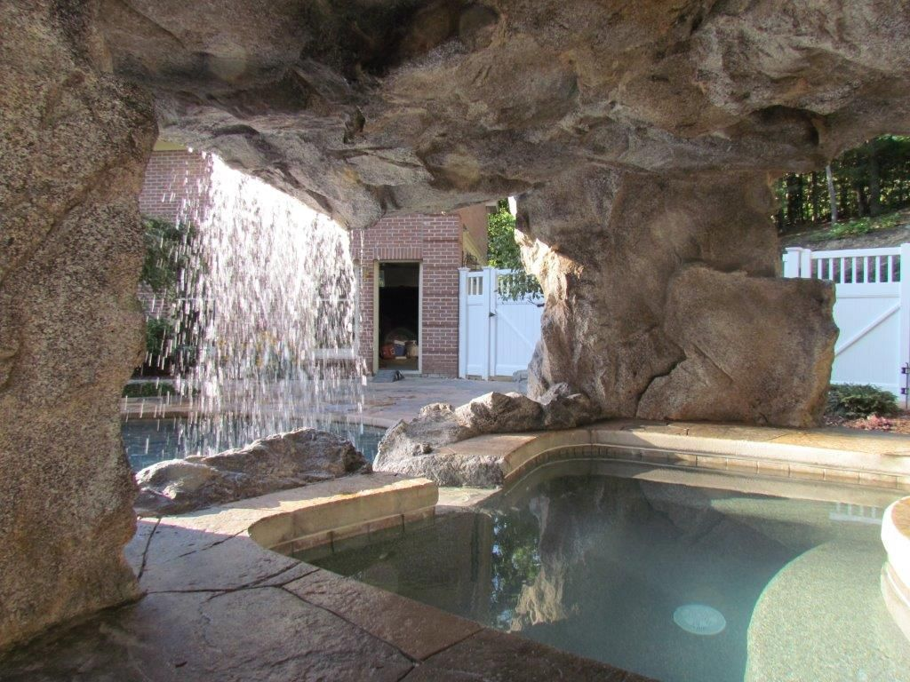 inside_the_grotto  Exotic backyard  Grotto pool Outdoor