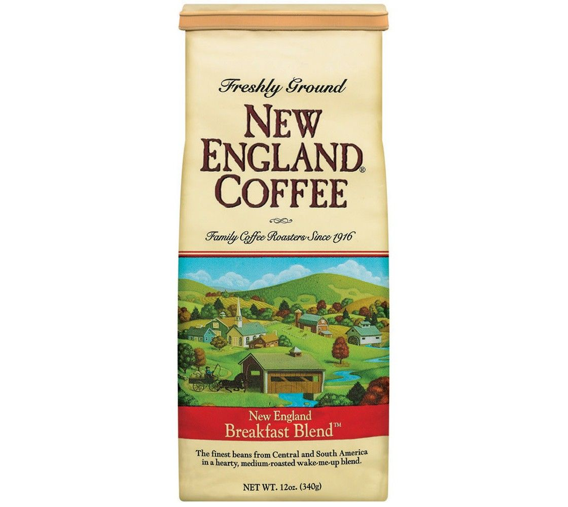 New england breakfast blend medium roast ground coffee