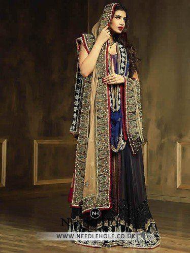 Traditional Asian Indian Bridal Sharara Dress In Manchester