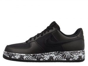 detailed look 87e4d 68b02 Mens Womens Nike Air Force One Noir Low Floral Black 820266-007 Running  Shoes