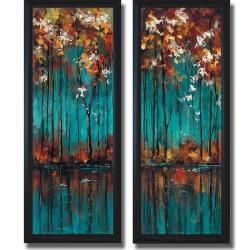 Overstock Easy Style Luis Solis The Mirror I And II Framed 2 Piece Canvas Art Set