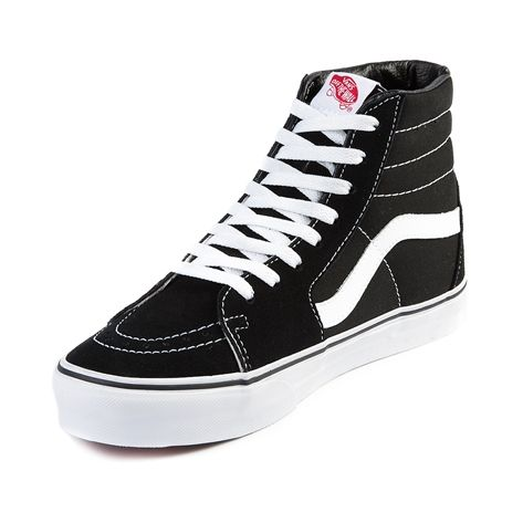 Vans SK8 Hi Skate Shoe, Black White