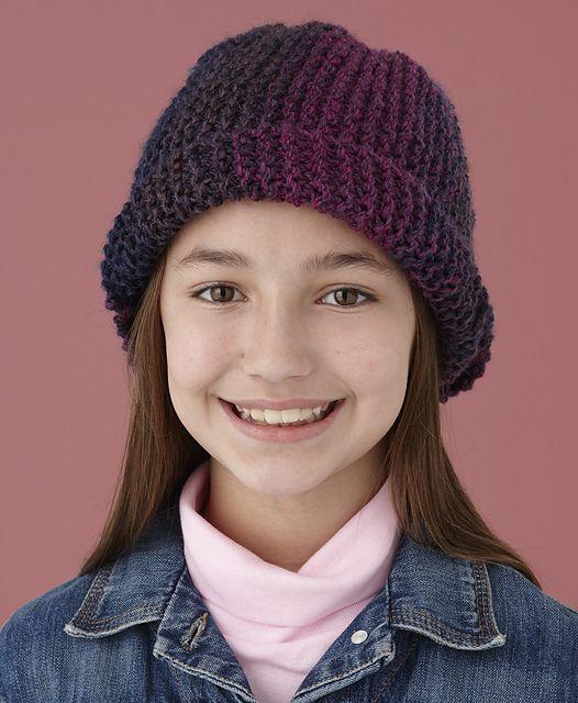 Ravelry: Garter Stitch One-Ball Hat pattern by Lion Brand Yarn ...