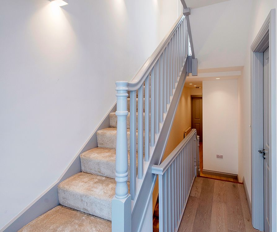 Best A Softwood Staircase With A Single Winder And Half Landing 400 x 300