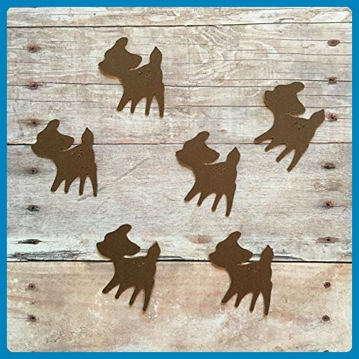 Fawn Confetti, Woodland Decorations, Animal Party Supplies, Woodland Theme, Rustic Party Supplies, Deer Decorations, Table Scatter, Deer Cut Out - Venue and reception decor (*Amazon Partner-Link)