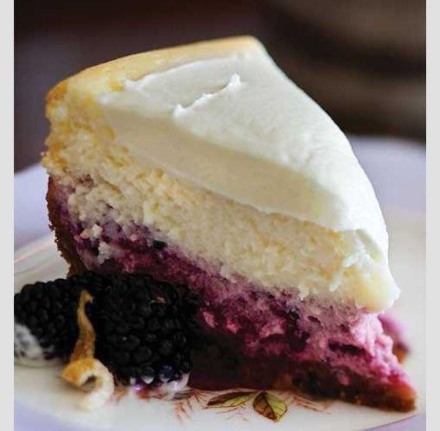Lemon Blackberry Cheesecake Recipe!! #Food #Drink #Trusper #Tip