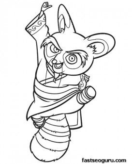 Printable Kung Fu Panda Master Shifu Coloring Pages Printable