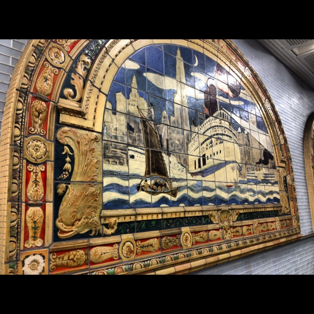 Art At Fulton Street Subway NYC. Rent-Direct.com