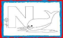 Animal Alphabet Letter N For Nurse Shark Coloring Page And Letter
