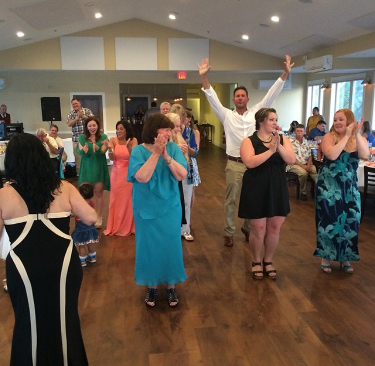 Guests enjoying the beautiful Narrows Ballroom during a wedding at The Jackspot, 6.6.15  To have your wedding at The Jackspot, contact Patty Shea: patty.shea@marriott.com
