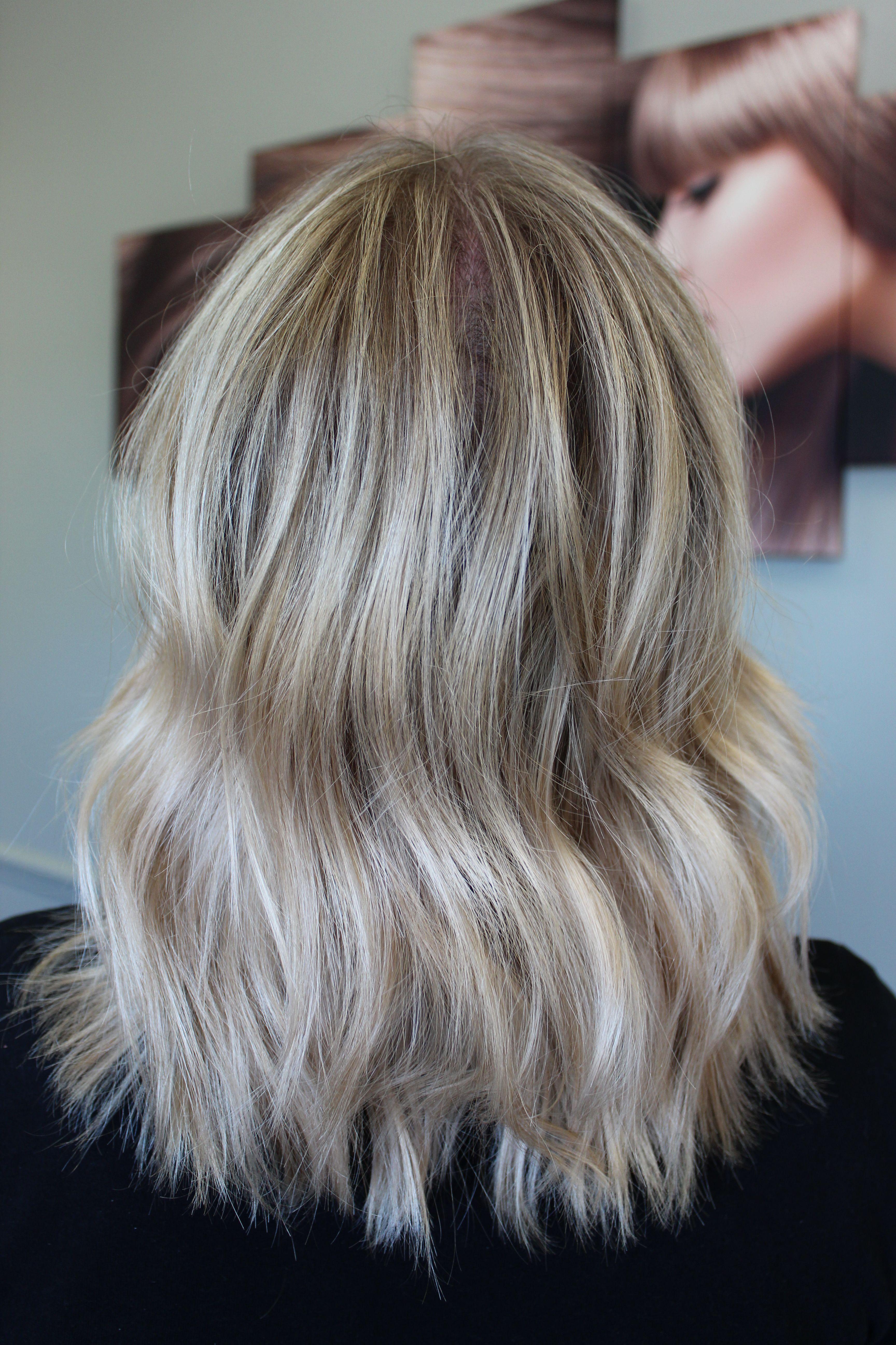 Ash Blonde with Shadow Root Textured Bob for Medium Length Fine Hair by Kay Stelzer @kaystelzerdidmyhair on Instagram. #fashion #blondebob #blondehair #ashblonde #texturedbob #mediumlengthhair #mediumbob #finehaif #platinumblonde #shadowroot #livedinhair #livedinblonde