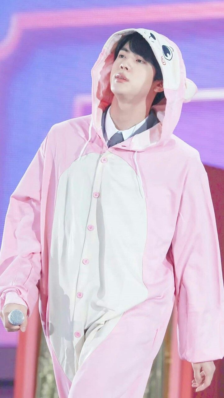 JIN ANIMAL COSTUME DAY 2 | BTS 4th muster Happy ever after | Pinterest | Animal costumes BTS ...