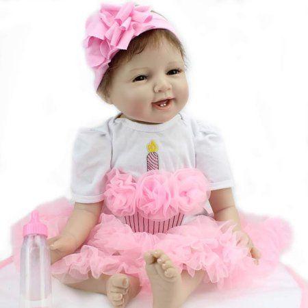 93c3860e4df17 Handmade 22inch Lifelike Baby Fashion Girl Doll Reborn Newborn Dolls Toy  With Accessories Birthday Christmas Gift