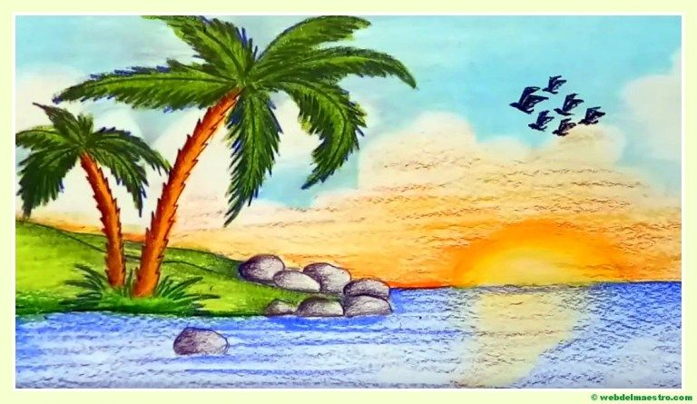 Paisajes Faciles De Dibujar Web Del Maestro Pinturas De Paisajes Faciles Paisajes Dibujos Paisaje Para Pintar