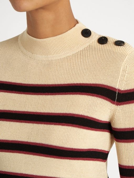 Isabel Marant Étoile Devona striped long-sleeved top