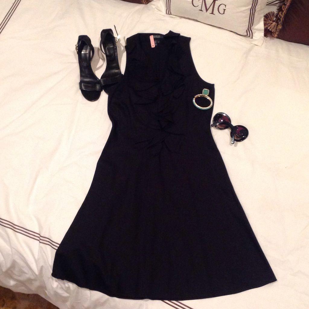 Ralph lauren black ruffled dress ruffle dress and products