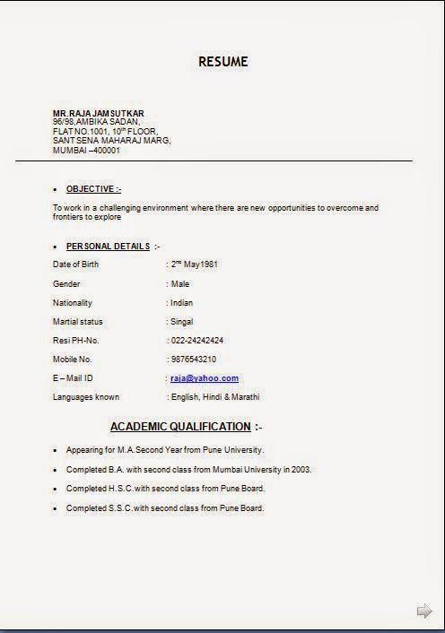 Model Resume Model Cv European Sample Template Example Of Excellentcv  Resume