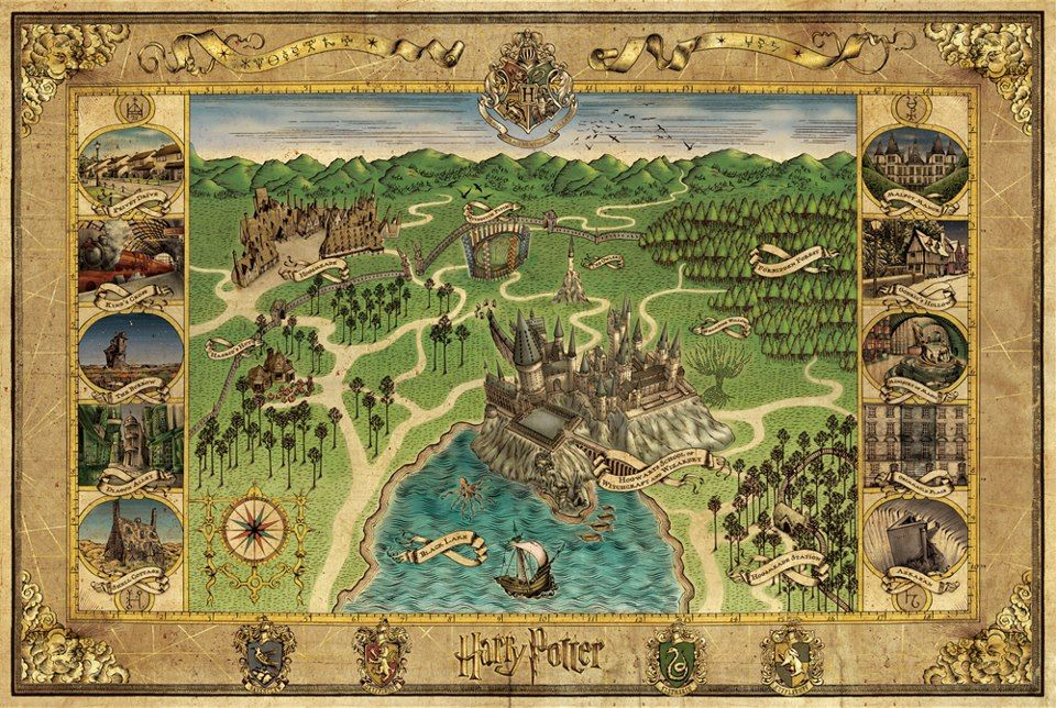 Open The Flap To Reveal Catalogue Of Artefacts, Cloth Map Of Hogwarts And  The Blueprint Poster Of Hogwarts Castle. Description From  Mamiizhp.blogspot.com.