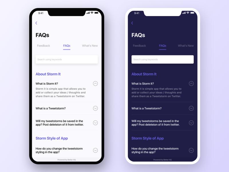 Application Faqs Feedback 앱 앱 디자인 디자인