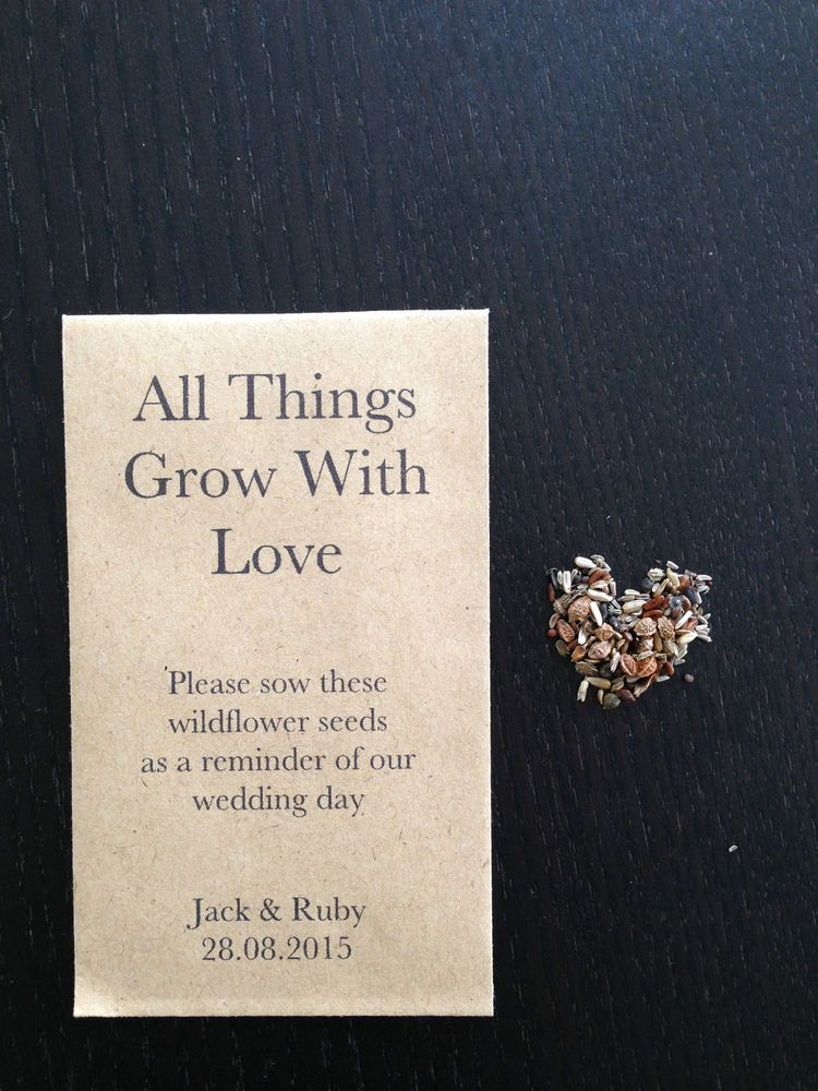 10 x wildflower seed wedding favours all things grow with love