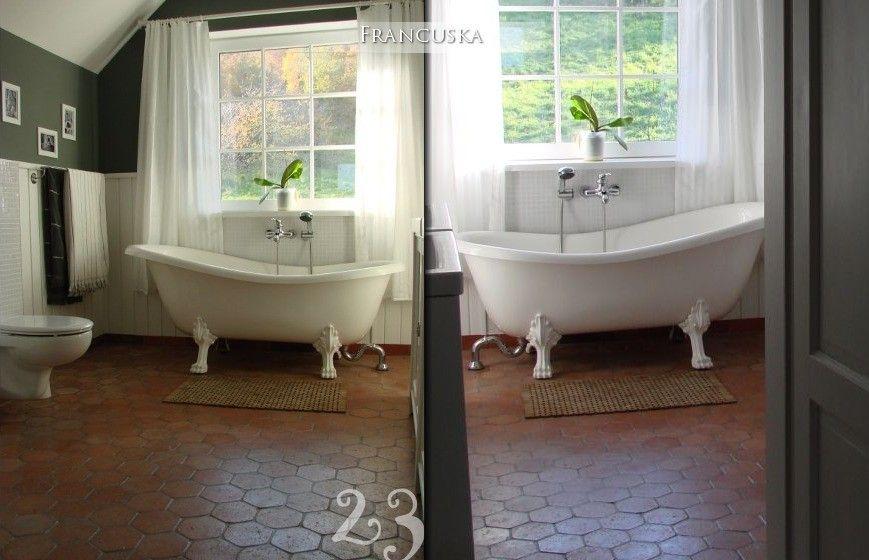 Terracotta Tiles Floor Bathroom Floor Ideas Pinterest