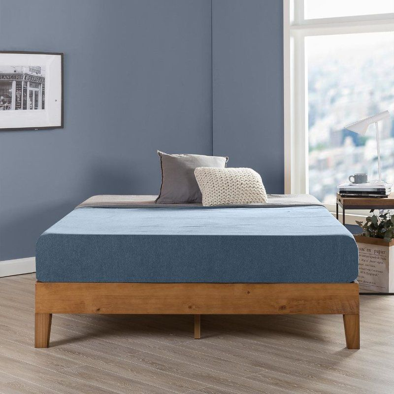 Harney Platform Bed Frame Platform Bed Frame Upholstered Queen