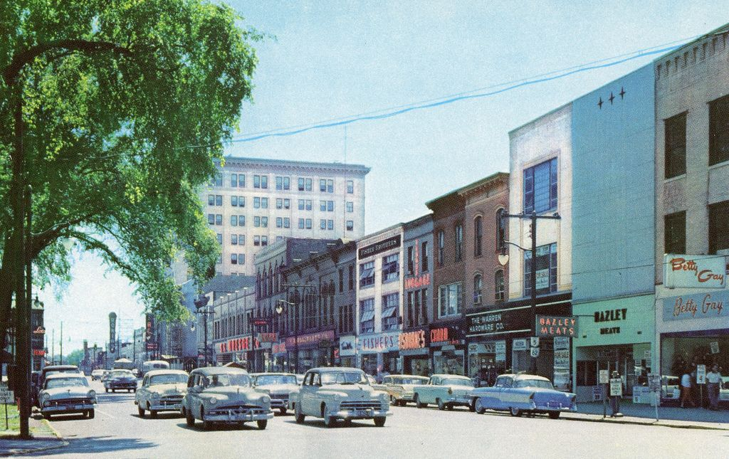 Looking East Down West Market St Warren Ohio Circa 1950 S Warren Ohio Youngstown Ohio Ohio