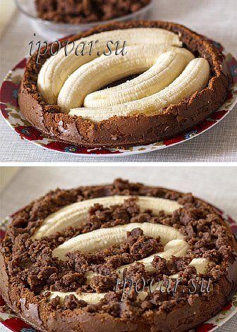 Банановый торт с шоколадом рецепт пошагово в