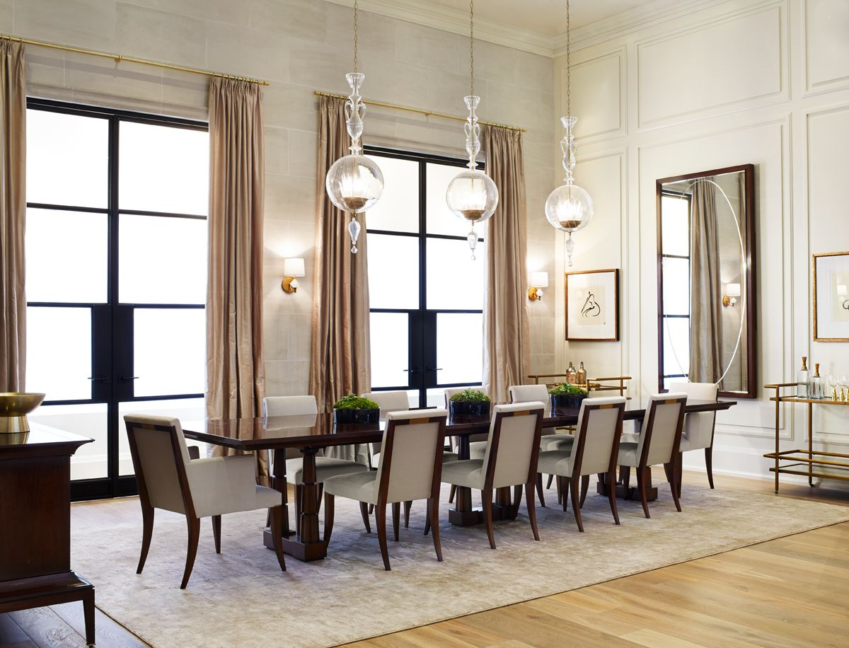 Elegant dining room the thomas pheasant collection for Homes without dining rooms