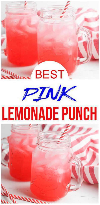 Kids Party Food! BEST Pink Lemonade Punch Recipe – 3 Ingredient – Easy – Cheap Ideas - Simple Drinks – Kids Parties – Slumber Party - Valentines Drink